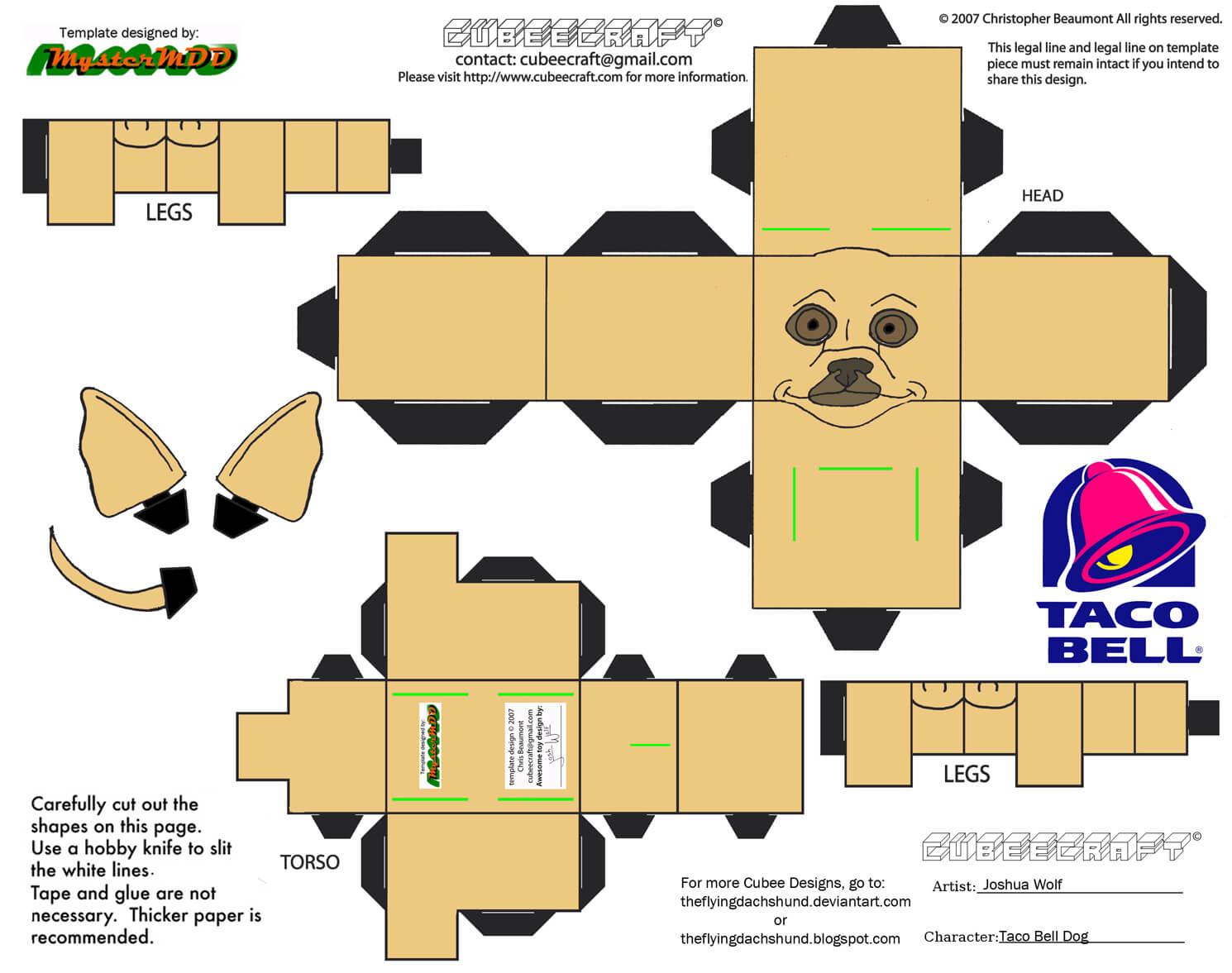 Papercraft Dog Template Costumepartyrun
