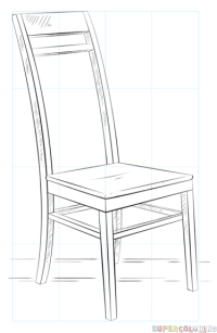Drawing Of Chair Sketches Sketch Coloring Page