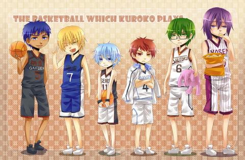 Kurokos Basket Chibi Generation of Miracles Members Bookmarks Free