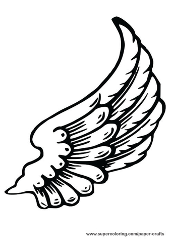 Left Angel Wing Paper Template Free Printable Papercraft Templates - angels templates free