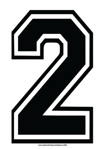 Black Football Shirt Number 2 Template Free Printable Papercraft