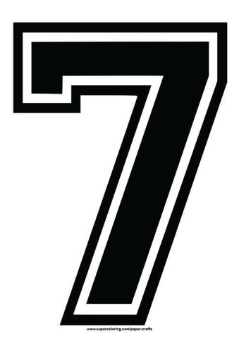 Black Football Shirt Number 7 Template Free Printable Papercraft