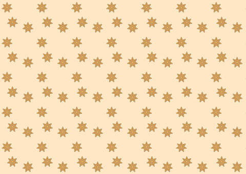 Christmas Gift Paper with Stars Template Free Printable Papercraft