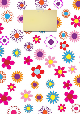 Colorful Floral Binder Cover Template Free Printable Papercraft