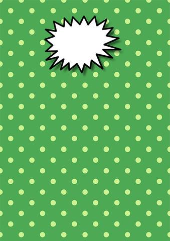 Green Polka Dot Printable Binder Cover Template Free Printable