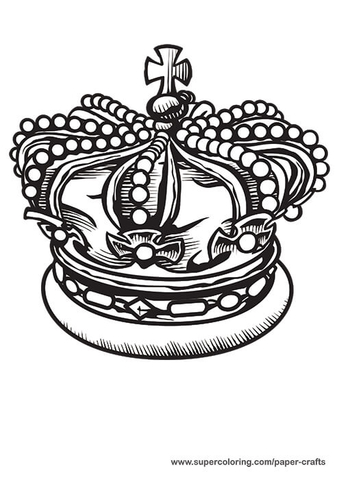 King Crown Printable Template Free Printable Papercraft Templates