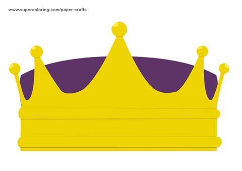 Crown Printable Template Free Printable Papercraft Templates