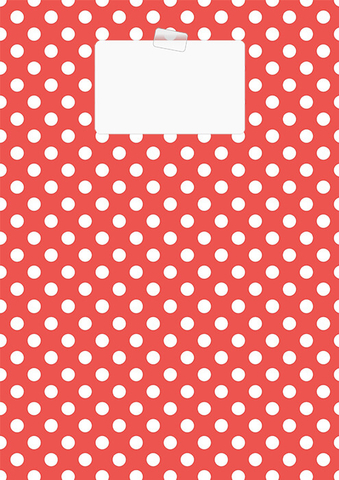 Red Polka Dot Binder Cover Template Free Printable Papercraft
