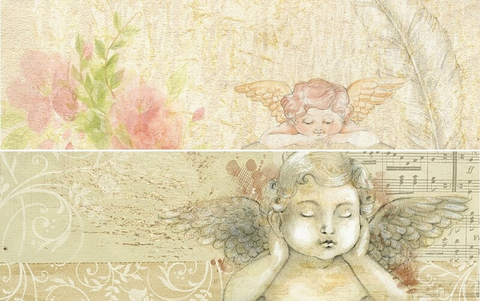 Set of Vintage Printable Bookmarks with Angels Free Printable - angels templates free
