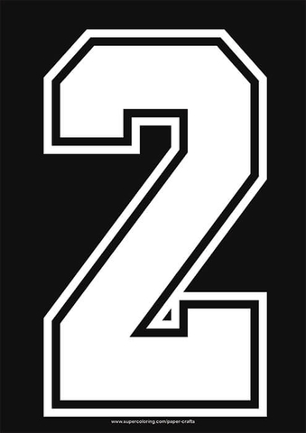 White Football Shirt Number 2 Template Free Printable Papercraft