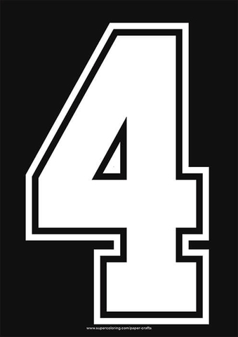 White Football Shirt Number 4 Template Free Printable Papercraft