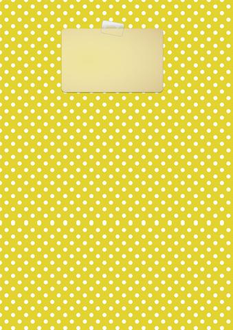 Yellow Polka Dot Binder Cover Template Free Printable Papercraft