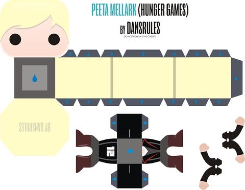 Peeta Mellark from Hunger Games Paper Toy Free Printable