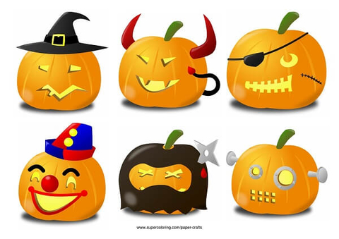 Pumpkin Carving Ideas for Halloween Dead Ninja, Pirate, Witch
