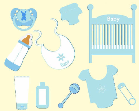 Baby Boy Accessories Printable Stickers Free Printable Papercraft