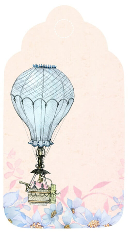 Hot Air Balloon Gift Tag Template Free Printable Papercraft Templates