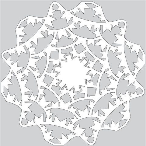 How to Make Paper Snowflake with Bunting Flags Tutorial Template