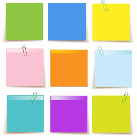 Set of Sticky Notes Template Free Printable Papercraft Templates - Note Template