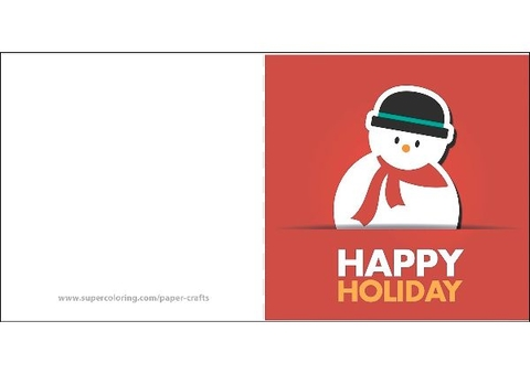 Card with Snowman Template Free Printable Papercraft Templates