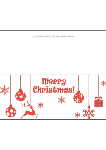 Christmas Greeting Card Template Free Printable Papercraft Templates