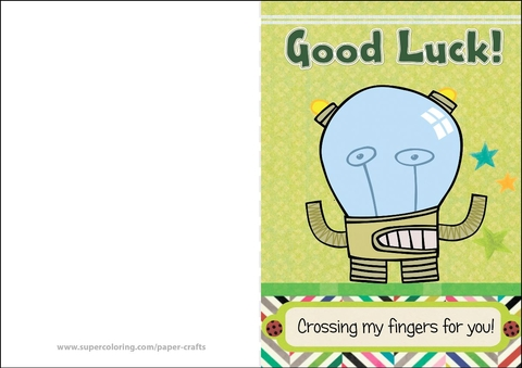 Crossing My Fingers for You Good Luck Card Free Printable