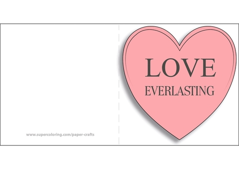 Everlasting Love Card with Heart Free Printable Papercraft Templates