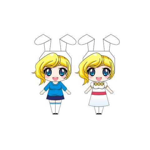 Fionna Paper Doll Template Free Printable Papercraft Templates