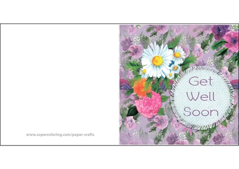 Get Well Soon Card Free Printable Papercraft Templates