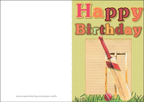 Happy Birthday Card with Cricket Free Printable Papercraft Templates