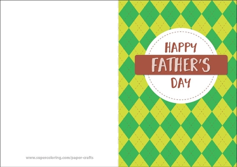 Happy Father\u0027s Day Card Free Printable Papercraft Templates