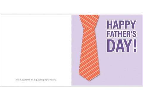 Happy Father\u0027s Day Card with Tie Free Printable Papercraft Templates