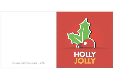 Holy Jolly Greeting Card Template Free Printable Papercraft Templates
