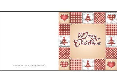 Merry Christmas Card Template Free Printable Papercraft Templates