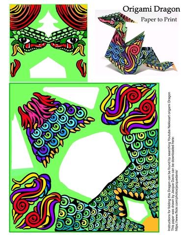 Origami Dragon Template Free Printable Papercraft Templates