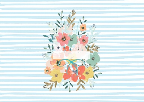 Watercolor Binder Cover with Flowers Template Free Printable