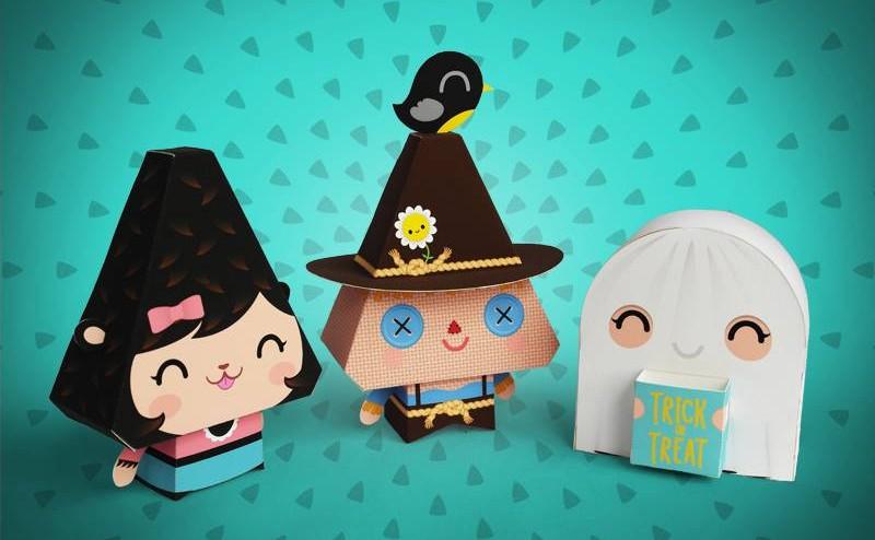 Dewmuffins Halloween Paper Toys - Super Cute Kawaii!!