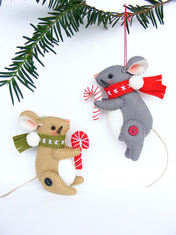 DIY Felt Christmas Tree Decorations by Nuvolina Handmade - Super - felt christmas decorations