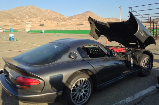 Dodge Viper overheating at Willow