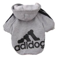 Pet Dog Sweater for Dogs and Cats with an Adidog Logo