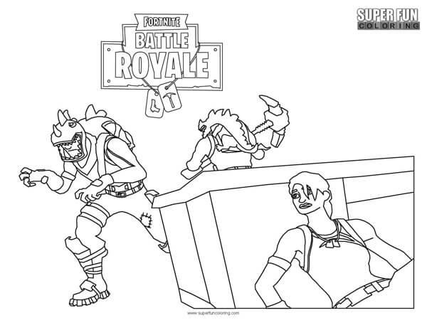 Beautiful Rex Fortnite Coloring Page Super Fun Coloring