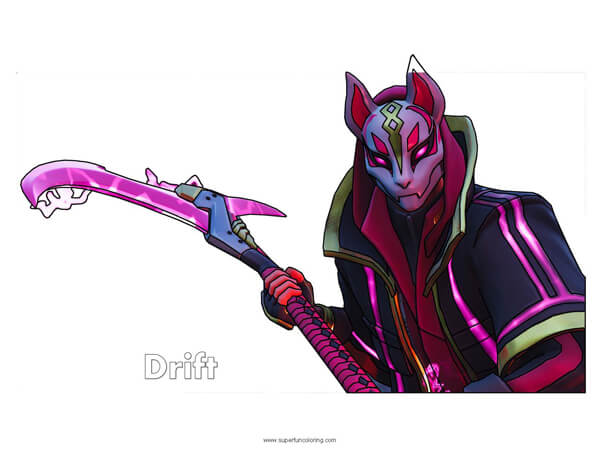 Cozy Fortnite Drift Coloring Page Super Fun Coloring Sanfranciscolife
