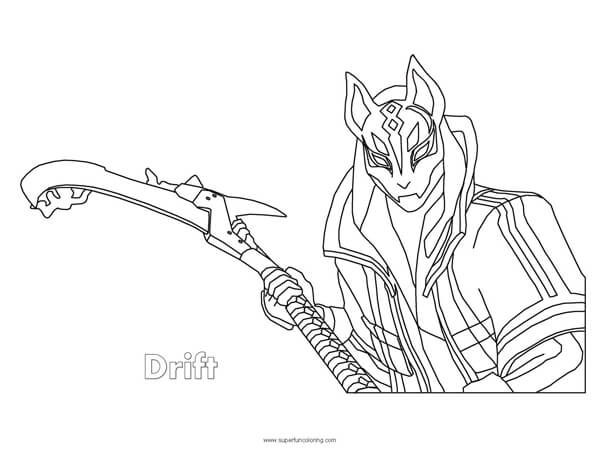 Fortnite Coloring Pages Drift Fortnite Drift Coloring Page