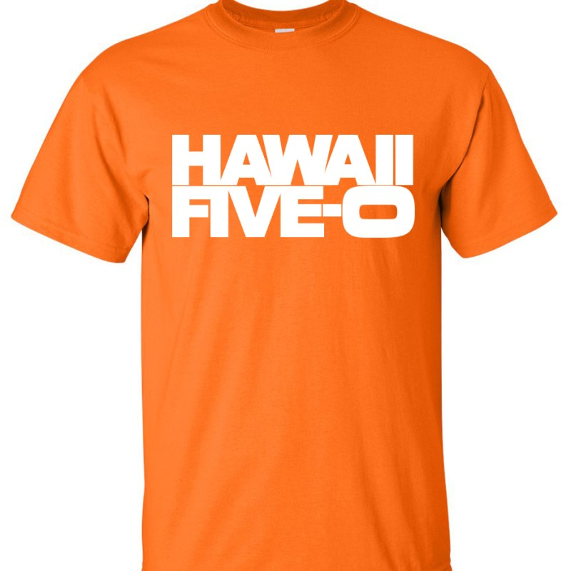 Hawaii five o logo graphic t shirt super graphic tees for Hawaiian graphic t shirts