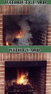 Fireplace Smoke Guards, Chimney Smoke Guards, Chimney Smokes