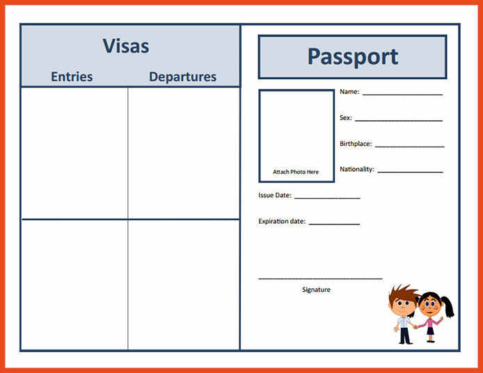 Enhance Fake Passport Template Ideas from a Reputed Company Superior - passport template
