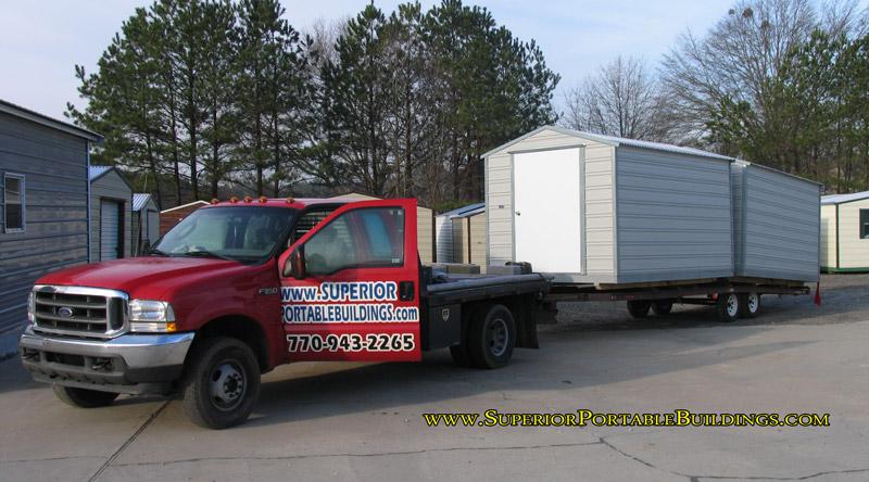 Portable Building Photos & Portable Storage Building Movers - Listitdallas