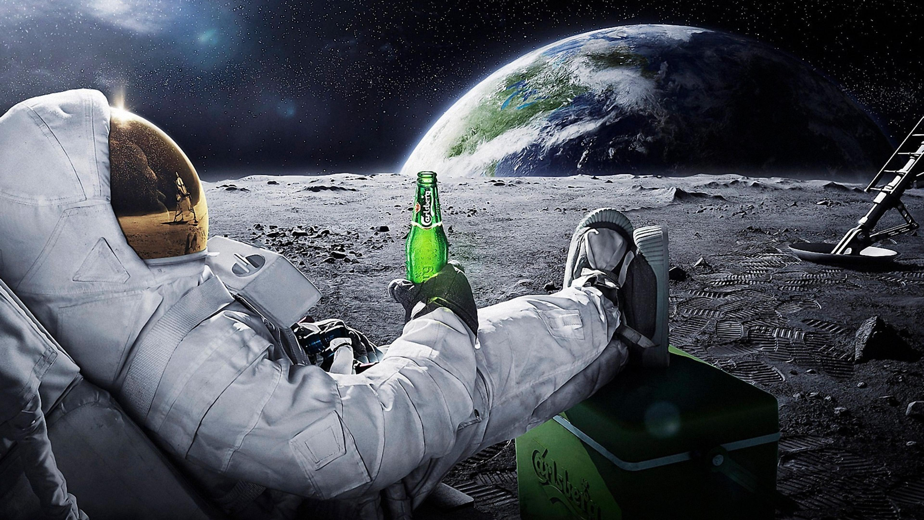 Cute Valentines Day Wallpapers A Men In Space With A Carlsberg Beer Wallpaper Download