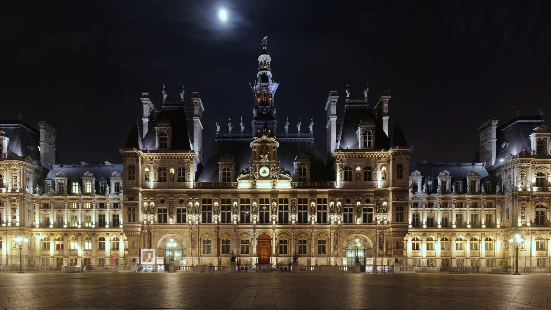 Download Hd Wallpapers Of Audi Cars Beautiful Hotel De Ville From Paris In Night