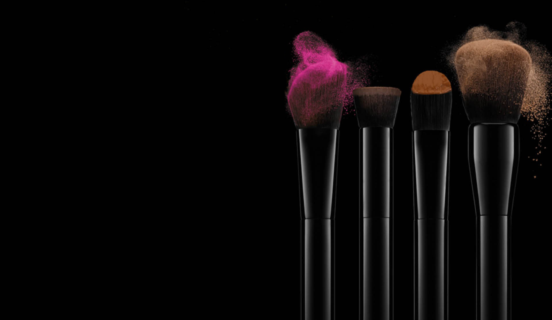 New 3d Abstract Wallpapers Brushes With Coloured Make Up On A Dark Background