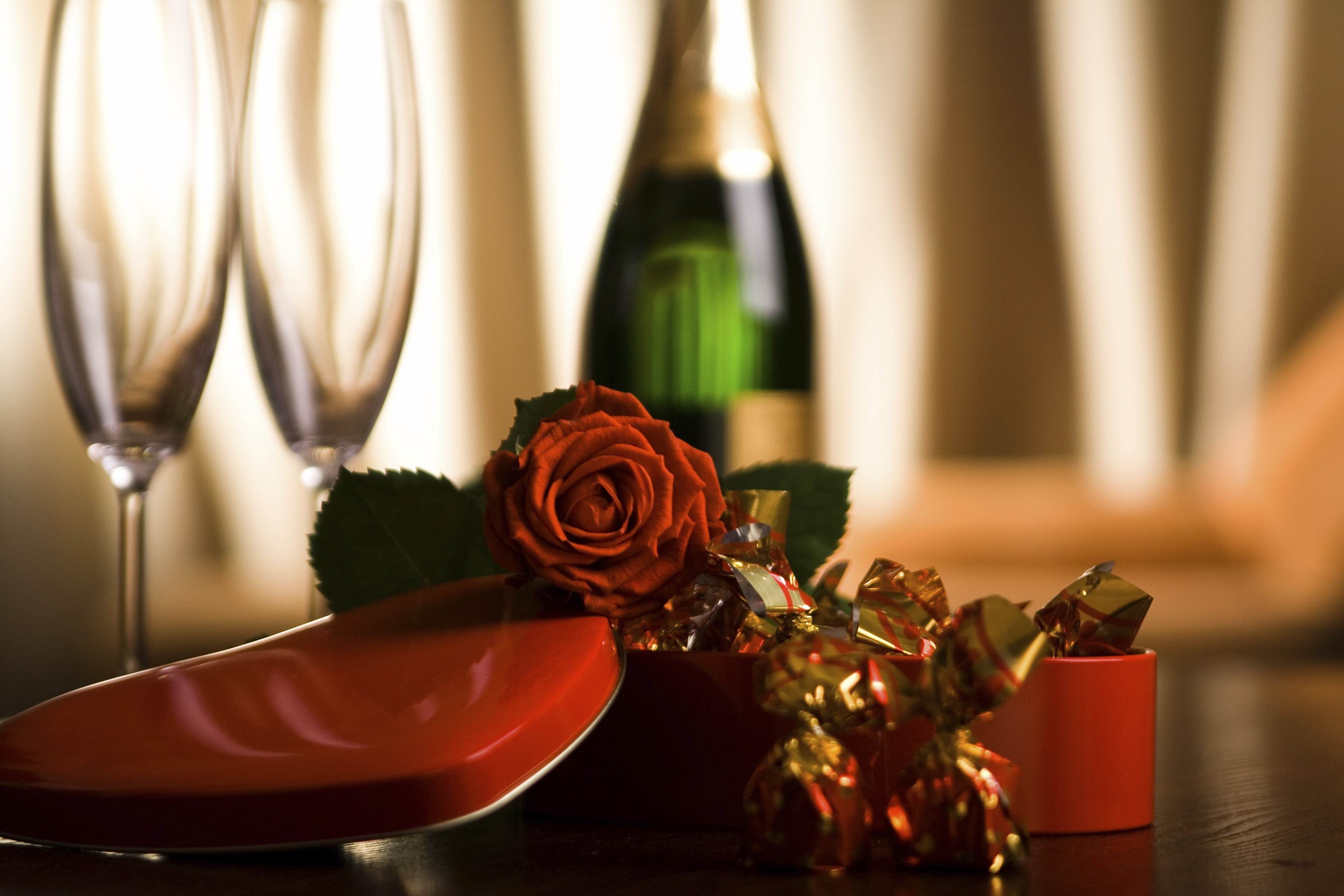 Happy New Year 2017 Hd Wallpaper Champagne Chocolate And Roses Love Valentine S Day